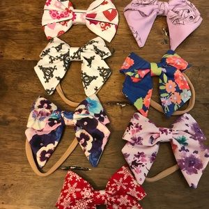 Other - Lot of 7 Handcrafted Child hair bows